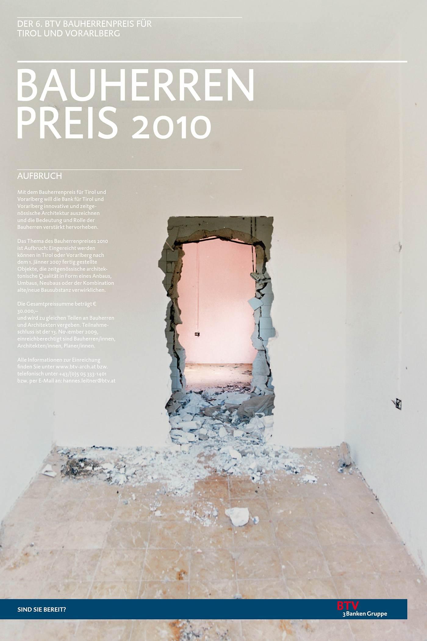 BTV – Bauherrenpreis - Christine Eisl Creative Direction & Design